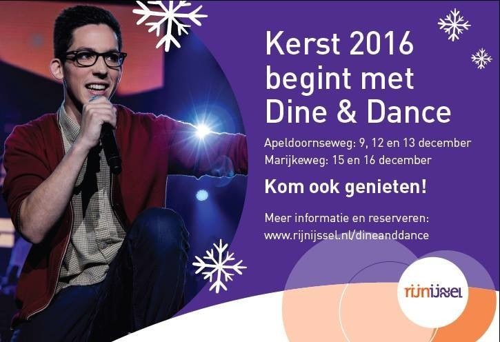 Dine & Dance 9 t/m 16 dec 2016